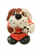 Toy Dog - Soccer Player With Ball poster