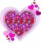 vector hearts design