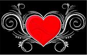 heart with ornaments