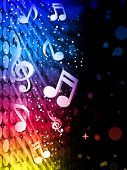stock photo of music note  - Vector  - JPG