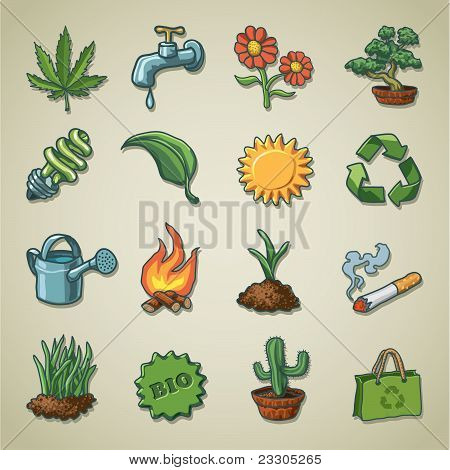 Freehands icons - ecology