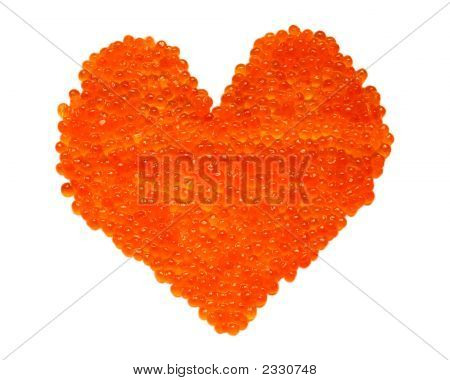 Red Caviar Heart