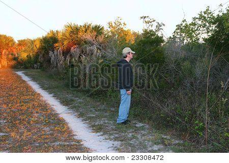 Man Sightseeing