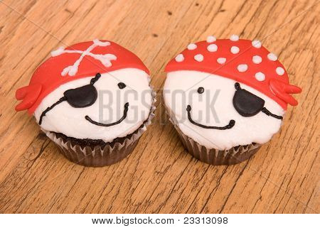 Two Pirate Cupcakes