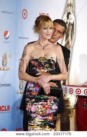 SANTA MONICA, CA - SEP 10: Melanie Griffith; Antonio Banderas at the 2011 NCLR ALMA Awards held at Santa Monica Civic Auditorium on September 10, 2011 in Santa Monica, California