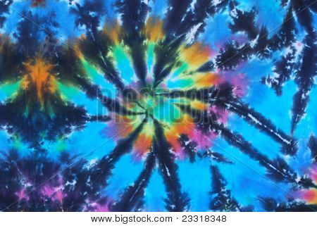 Bright Blue Tie Dye Design