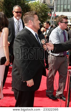 LOS ANGELES - SEP 10:  Chaz Bono arriving at the Creative Arts Emmys 2011 at Nokia Theater  on September 10, 2011 in Los Angeles, CA