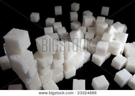 Pile Of White Sugar Cubes