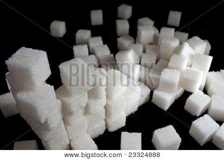 Pile Of White Sugar Cubes
