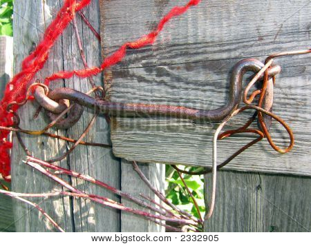 Country Door Is Closed By Hook