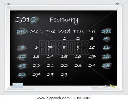 2012 February Calendar