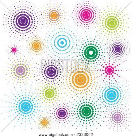 Multicolored Retro Circles