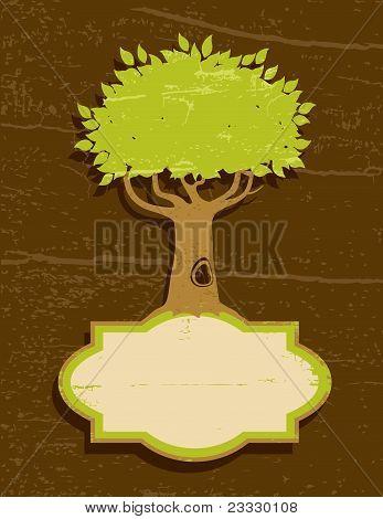 Vintage Illustration Of The Tree