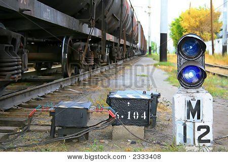 Traffic Light №12 On Railway