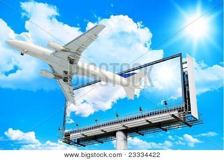 White Canvas Plane Flying