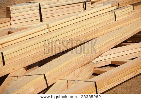 Abstract of Construction Framing Wood Stack.