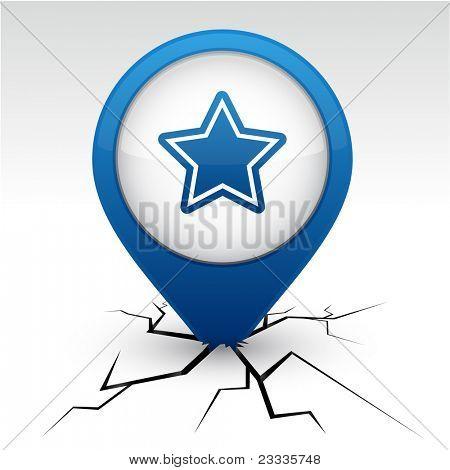 Star modern icon. Vector illustration.