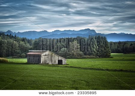 An image of a nice bavarian landscape HDRI