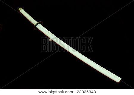 White samurai sword