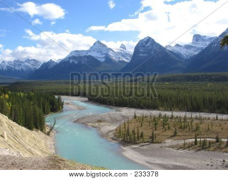 Mt. Christie, Whirlpool Valley And Athabasca River - Jasper National Park, Alberta, Canada