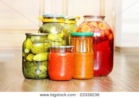 pickled canned vegetables