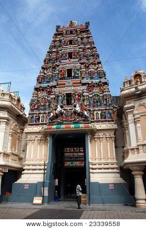 KUALA LUMPUR - MAY 22: Devotees congregate to the Sri Maha Mariamman Temple to pray on May 22, 2011, Kuala Lumpur, Malaysia. This temple serves the Indian community of the Hindu faith.