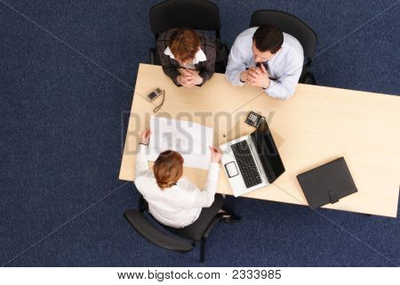 Business People Working With Project