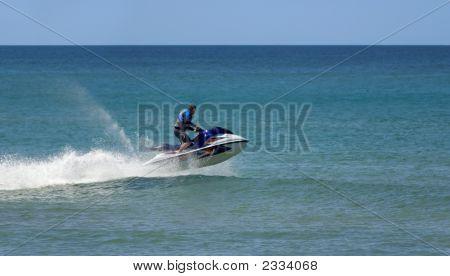 Fast Jetski Rider Ocean