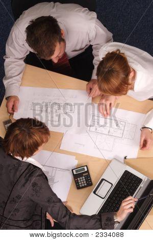 Projetos do arquiteto, clientes,