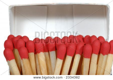 Close Up Of Red Matches
