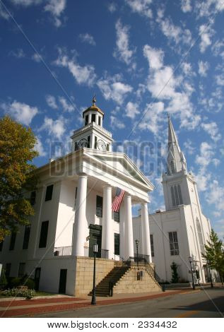 Historic Courthouse And Church