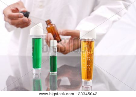 Yellow Chemical Solution