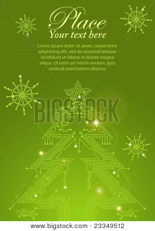 Christmas Tree From Circuit Board