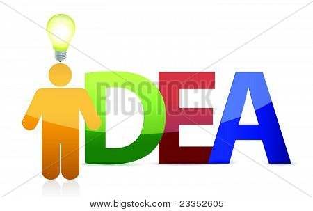 business man with idea sign illustration