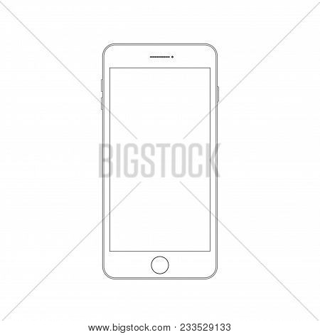 Outline Drawing Modern Smartphone Smartphone