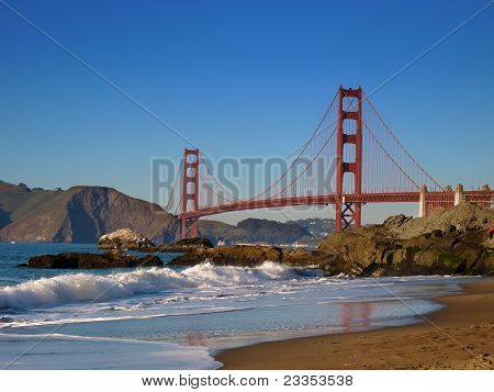 Golden Gate Bridge view from Baker Beach