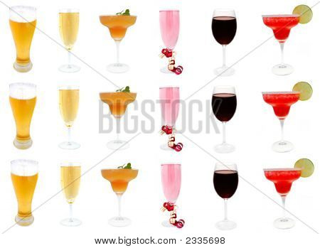 Collection Of Alcoholic Drinks