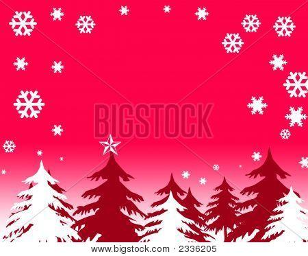 Christmas Scene, Trees