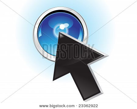 Abstract Button Pressing Cursor