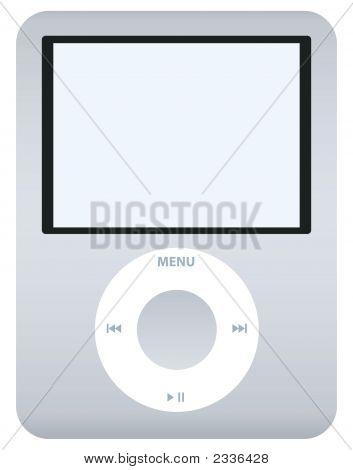 Grey/Silver Music Player