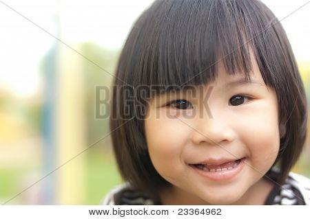 Happy Little Asian Girl Smile