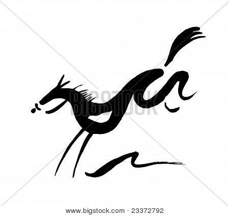 Hurdling Horse