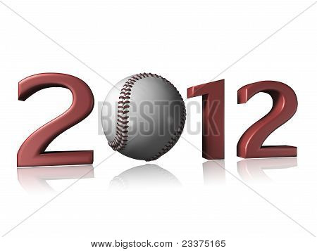 2012 Baseball Design On A White Background