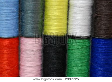 Colorful Thread Background Straight
