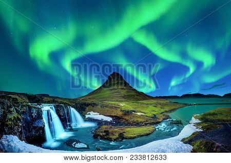 Northern Light Aurora Borealis At