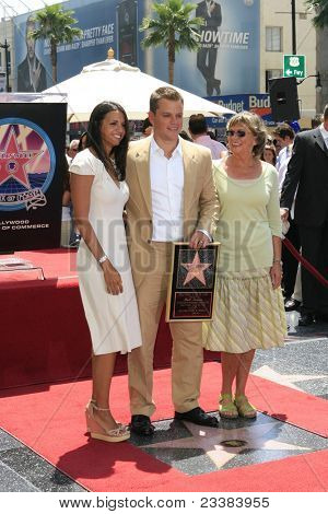 LOS ANGELES - JULY 25: Matt Damon, his wife Luciana, his mother at a ceremony where Matt Damon is honored with a star on the 'Hollywood Walk of Fame' on 25 July 2007 in Los Angeles, California