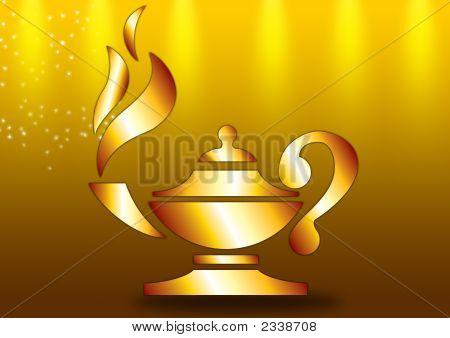 Lamp In Golden Ground