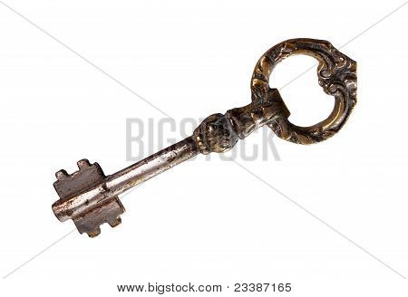 Ancient Key Isolated