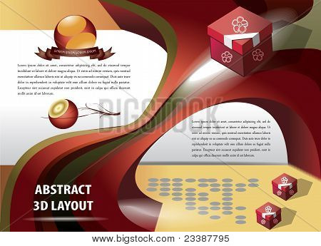 Abstract 3D Layout