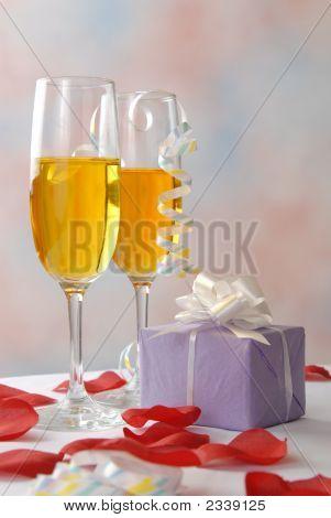 Romantic Gift And Wine